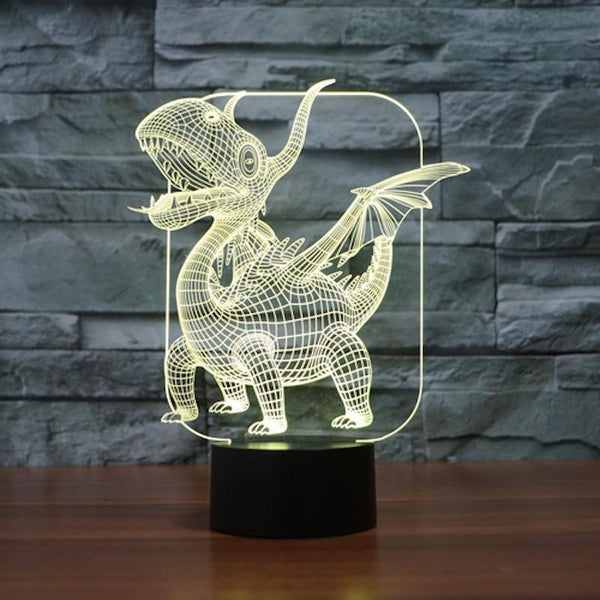 Baby Dragon - 3D LED Lamp - Lamp