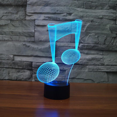 Musical Note - 3D LED Lamp - Lamp