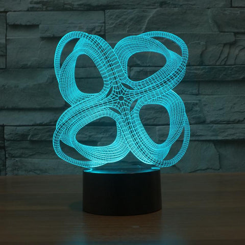 Abstract 4 Circles - 3D LED Lamp - Lamp
