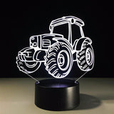 Tractor - 3D LED Lamp with Remote - Lamp