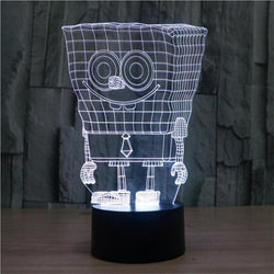 Spongebob - 3D LED Lamp - Lamp