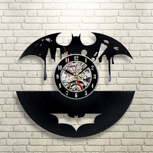 Batman - Retro Vinyl Wall Clock - Lamp