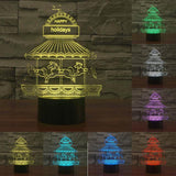 Merry Go Round - 3D LED Lamp - Lamp