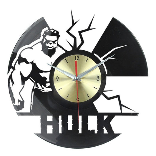 Hulk Vinyl Retro Wall Clock - Lamp