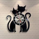 Animal Vinyl Record Wall Clock - Lamp