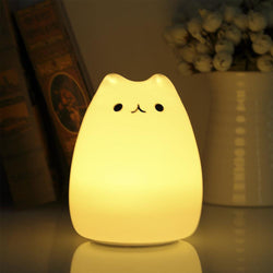Cute Colourful Kids Night Light - USB Chargeable, Soft too touch - Lamp
