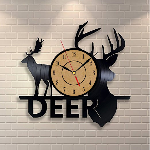 Deer Vinyl Record Wall Clock - Lamp