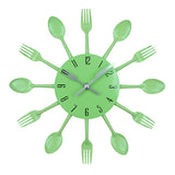 Modern Kitchen Wall Clock Cutlery Spoon Fork Design - Lamp