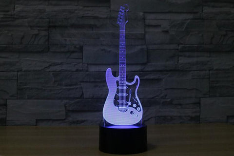 Electric Guitar - 3D LED Lamp - Lamp