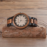 BOBO BIRD Men's and Woman's Watch with Ebony Wood face - Lamp