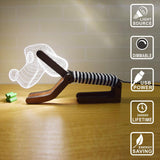 Modern Living dog Wooden Designer base - 3D LED Lamp - Lamp