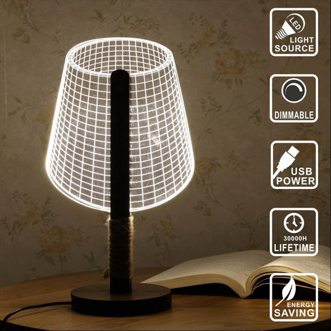Classic look Lamp - 3D LED Lamp - Lamp