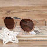 Wooden Cork Frame Sunglasses - Lamp