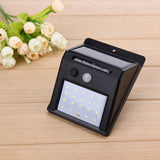 LED Solar Power PIR Infrared Motion Sensor Wall Lamp - Lamp