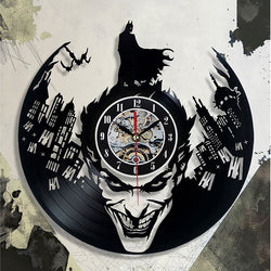 Batman Batman and More Batman Designed Vinyl Wall Clock - Lamp