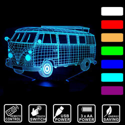 Kombi Van - 3D LED Lamp - Lamp
