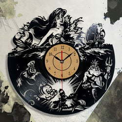 The Little Mermaid Under The Sea - Vinyl Wall Clock - Lamp