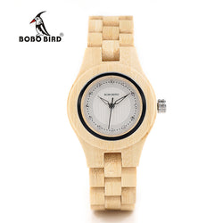 Bamboo Women Dress Watch in Wooden Box - Lamp