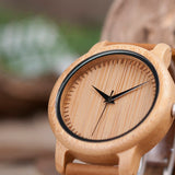BOBO BIRD Ladies or Gents Casual Watch Natural Bamboo - Lamp