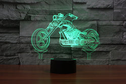 Chopper Motorbike - 3D LED Lamp - Lamp