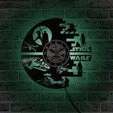 STAR WARS - Vinyl Wall Clock With LED Back Lights - Lamp