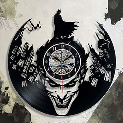 Batman and the Joker - Vinyl Wall Clock with LED Back Light - Lamp