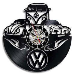 VW Beatle - Kombi - Vinyl Wall Clock - Lamp