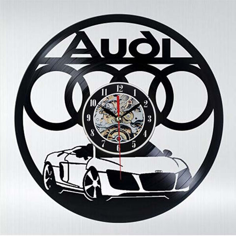 Audi R8 - Vinyl Wall Clock - Lamp