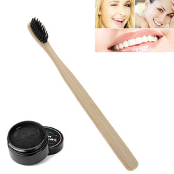 Bamboo Charcoal Toothpaste Whitening Powder + Toothbrush - Lamp