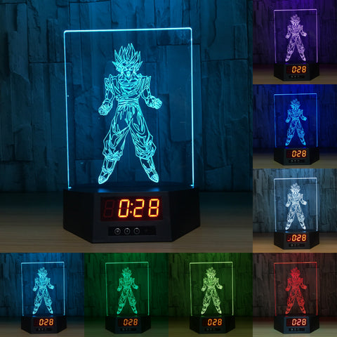 Dragonball Z Goku 3D LED Lamp - Night Light - Digital Clock - Lamp