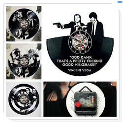 Pulp Fiction - Retro Vinyl Wall Clocks - Lamp