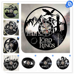 The Lord of the Rings - Retro Vinyl Wall Clocks - Lamp