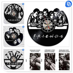 Friends TV Show - Retro Vinyl Wall Clocks - Lamp