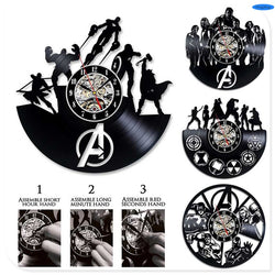 The Avengers - Retro Vinyl Wall Clocks - Lamp