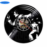 Elvis Presley - Retro Vinyl Wall Clocks - Lamp
