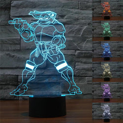 Teenage Mutant Ninja Turtle - 3D LED Lamp - Lamp