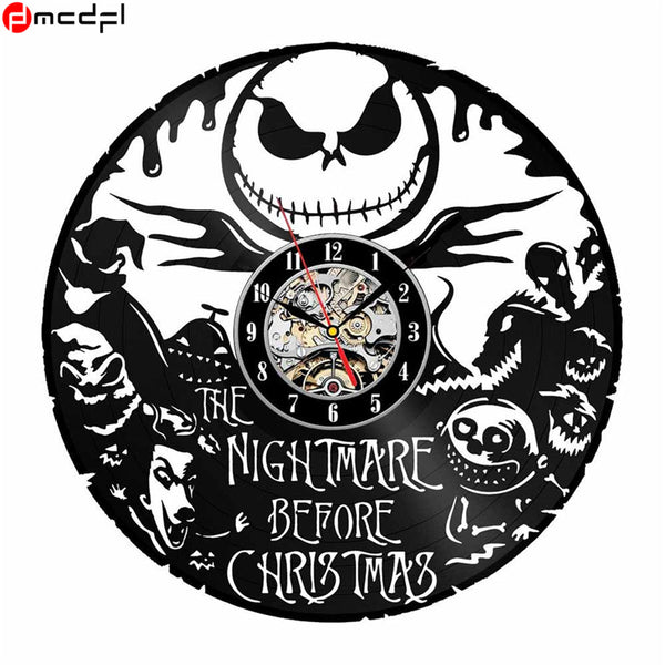 The Nightmare Before Christmas - Retro Vinyl Wall Clocks - Lamp
