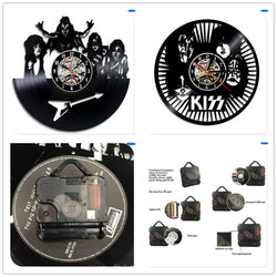 KISS - Retro Vinyl Wall Clocks - Lamp