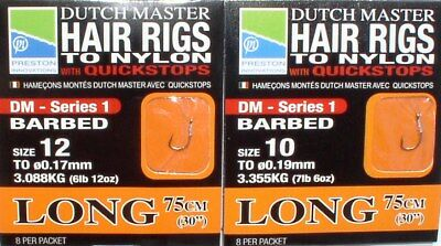 DUCH MASTER HAIR RIGS TO NYLON WITH QUICKSTOPS SIZE 12