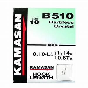 Kamasan B510 hooks to Nylon  Barbless