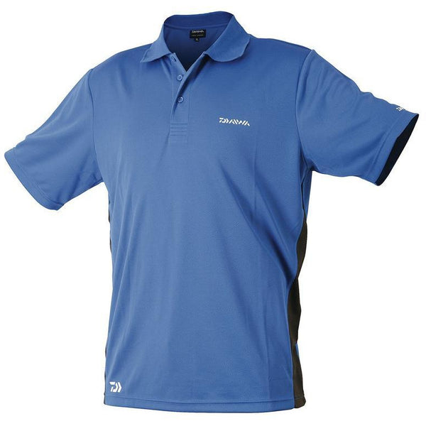 Diawa Breathable Polo Shirt Blue