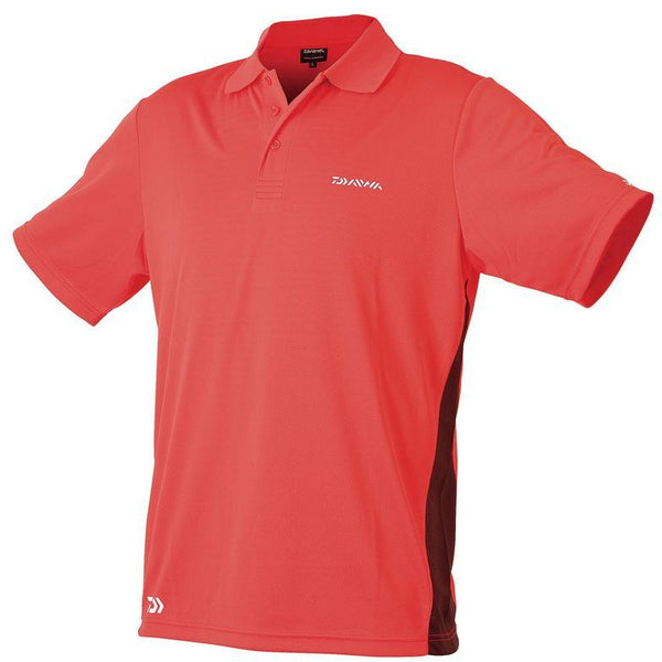 Diawa Breathable Polo Shirt Red