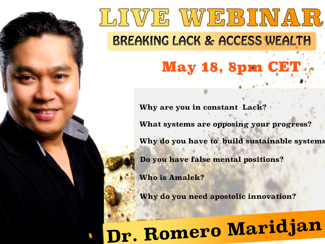 Live Webinar: Kingdom Truths On Lack & Wealth