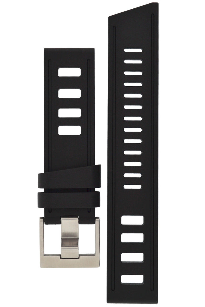 ISOfrane Rubber Dive Watch Strap in BLACK