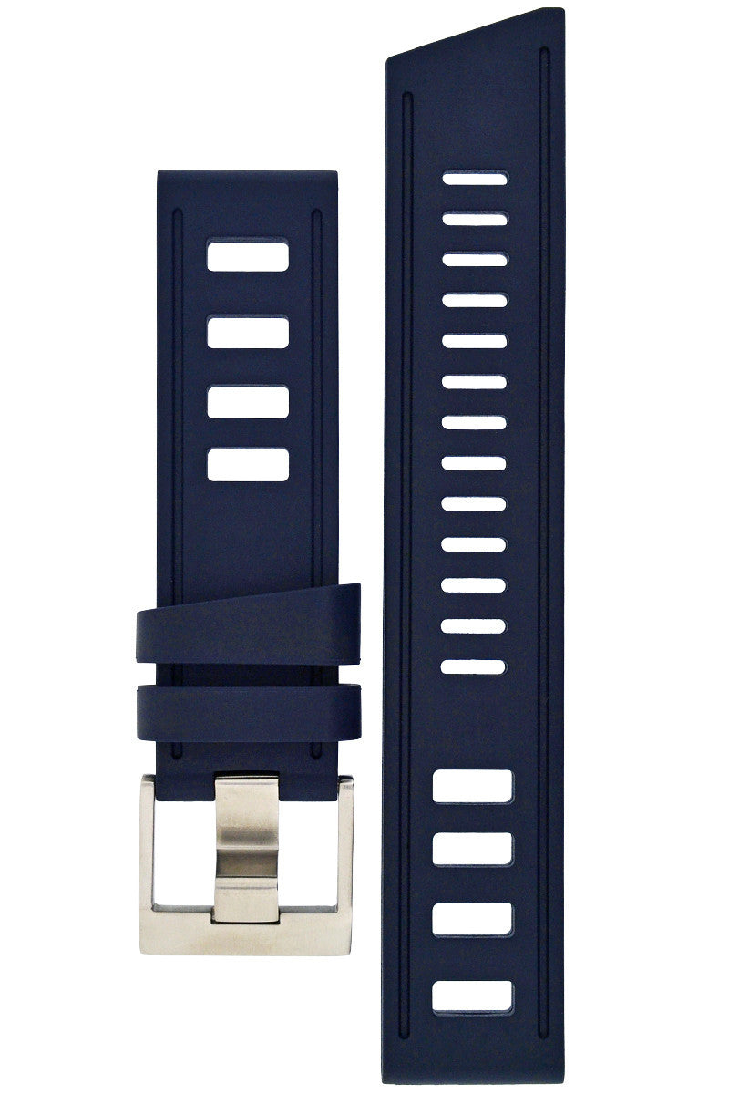 ISOfrane Rubber Dive Watch Strap in BLUE