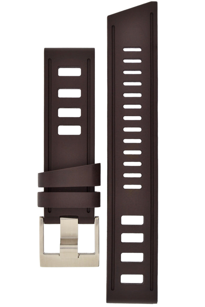 ISOfrane Rubber Dive Watch Strap in BROWN