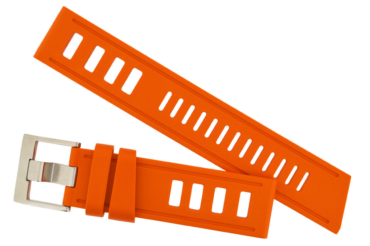 ISOfrane Rubber Dive Watch Strap in ORANGE