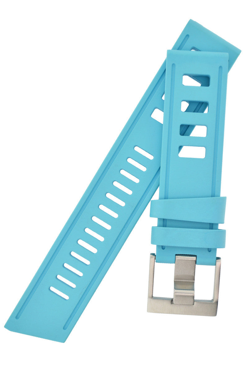 ISOfrane Rubber Dive Watch Strap in TURQUOISE