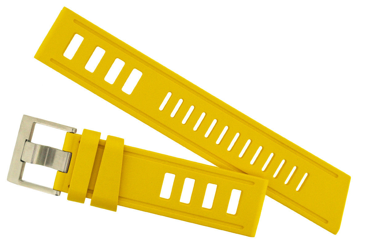 ISOfrane Rubber Dive Watch Strap in YELLOW