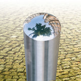 Chichester Stainless Steel Bollard - Concrete In 3